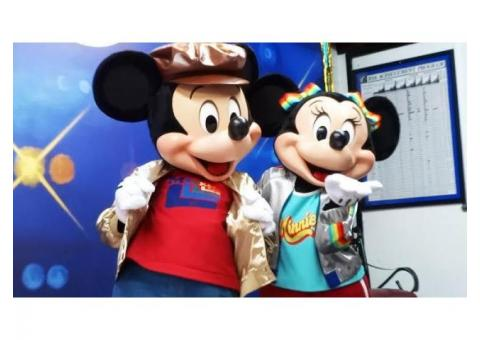 DJ & MC AndMickey Mouse characters